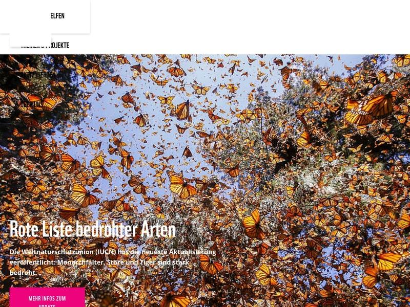 Screenshot von http://wwf.de